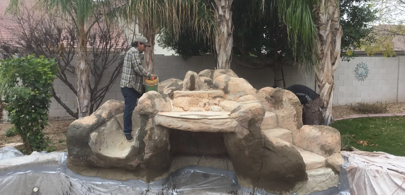 Waterfall Repair - Caribbean Dreams Landscapes - Phoenix Arizona